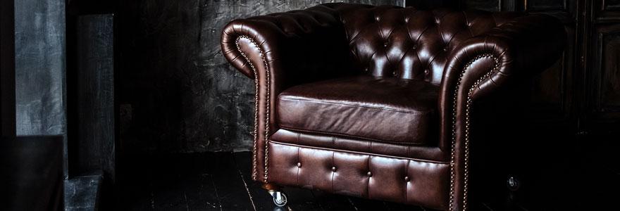 fauteuil en cuir