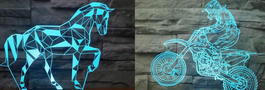 lampes 3d en ligne